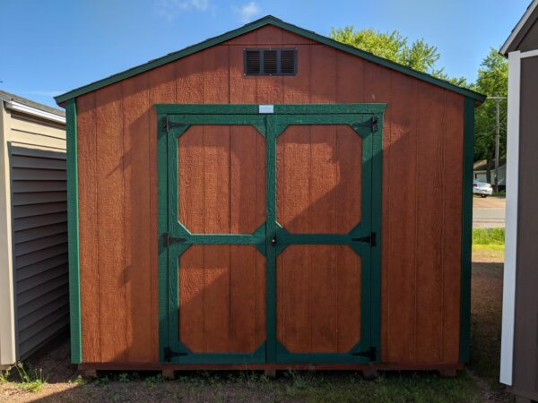 Honey Gold - Urethane A-frame ranch style Gable Shed
