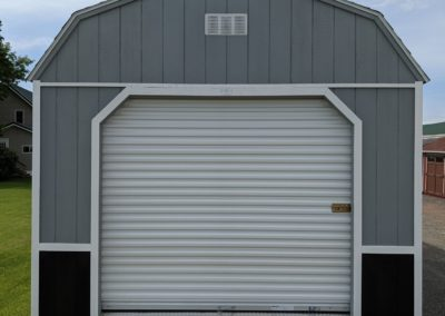 Portable Lofted Garage Wisconsin Shed builder Company-front