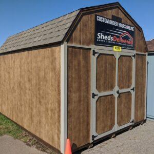 10x12 Portable Lofted Dutch Barn Storage Shed