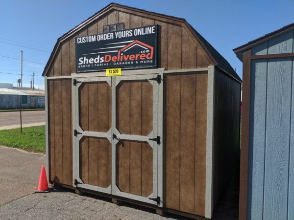 10x12 Portable Lofted Dutch Barn Storage Shed exterior