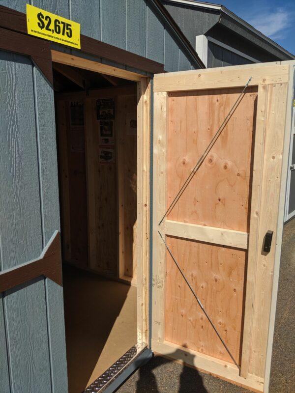 10x14 Portable Utility Gable Storage Building door