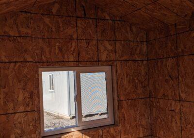 Inside hunting shack