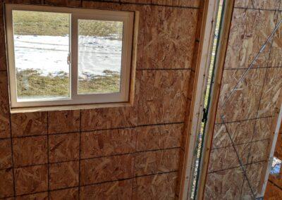 Inside sealed hunting shack